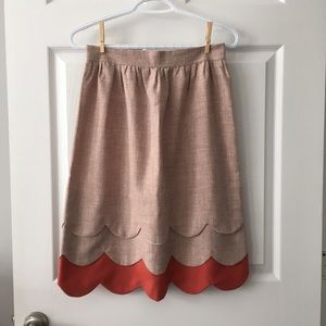 Handmade Scallop Skirt from Vintage Fabric